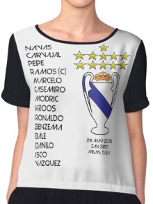 Real Madrid 2016 Champions League Winners Chiffon Top