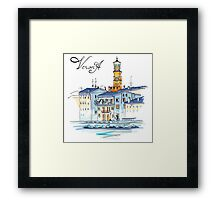 Tower Lamberti in Verona, Italy Framed Print