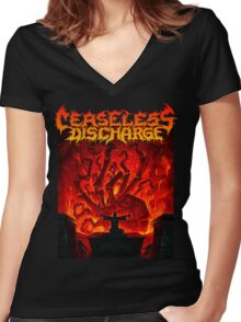 Ceaseless Discharge Women's Fitted V-Neck T-Shirt