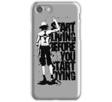 <ONE PIECE> Ace Quote iPhone Case/Skin