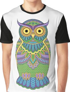 Decorated ornate owl with patterns and ornaments Graphic T-Shirt