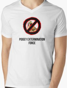 Pokemon GO: Pidgey Extermination Force T-Shirt (Tasteless) Mens V-Neck T-Shirt