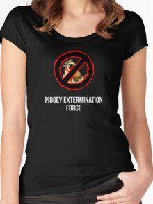 Pokemon GO: Pidgey Extermination Force T-Shirt (Tasteless) Women's Fitted Scoop T-Shirt