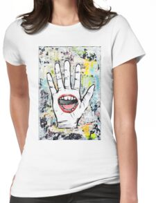 The Hand That Feeds Womens Fitted T-Shirt