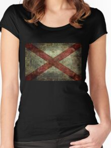 Alabama state flag Women's Fitted Scoop T-Shirt