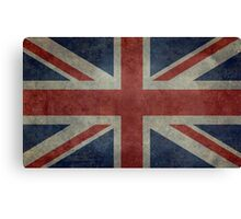 Union Jack Desaturated Grunge (3:5 Version) Canvas Print