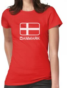Danmark Flag Womens Fitted T-Shirt