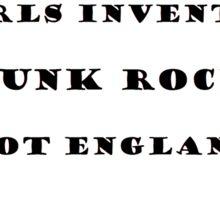 Girls invented punk rock (white) Sticker