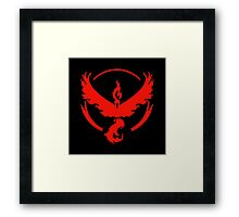 Pokemon Go | Team Valor | Black Background | HUGE | New! | High Quality! Framed Print
