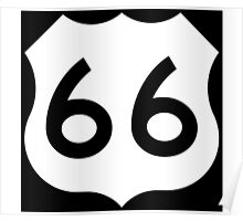 Route 66 - US Highway Road Trip T-Shirt Poster Sticker Poster