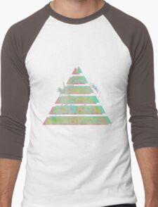 Vaporwave Pyramid Men's Baseball ¾ T-Shirt