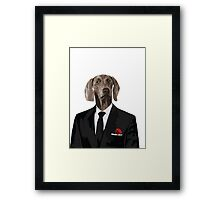 The Dog Father - Godfather parody Framed Print