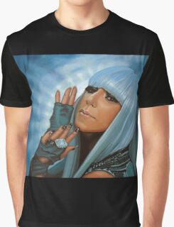 Lady Gaga Painting Graphic T-Shirt