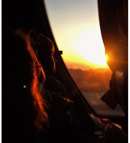 Sunset at Petra Sticker