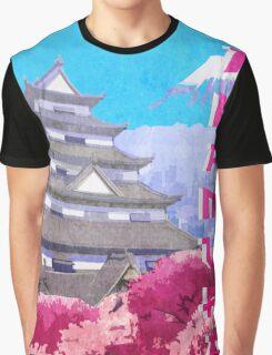 Hanamura Vintage Travel Poster Graphic T-Shirt