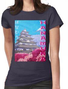 Hanamura Vintage Travel Poster Womens Fitted T-Shirt