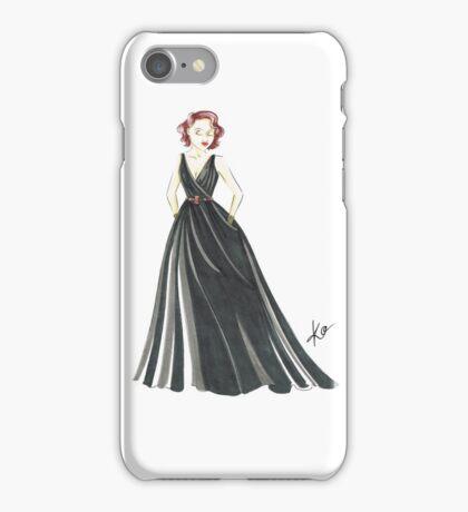 Black Widow, Evening Gown  iPhone Case/Skin