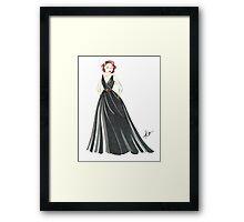Black Widow, Evening Gown  Framed Print