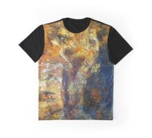 Yellow and Blue Wall Graphic T-Shirt