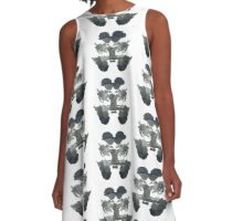 Rabbit Ink Blot  A-Line Dress