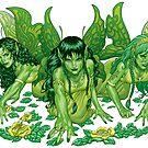Green Fairy Trio  by alrioart