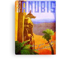 Temple of Anubis Vintage Travel Poster Canvas Print