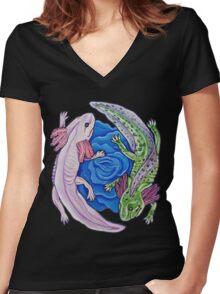 Little Lotls Women's Fitted V-Neck T-Shirt