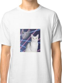 80'S LASER BACKGROUND CAT 2 Classic T-Shirt
