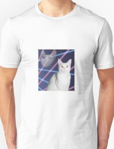80'S LASER BACKGROUND CAT 2 Unisex T-Shirt