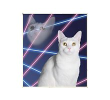 80'S LASER BACKGROUND CAT 2 by Andrew Vox