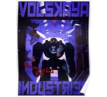 Volskaya Indsustries Vinage Travel Poster Poster