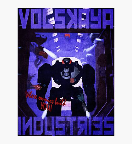 Volskaya Indsustries Vinage Travel Poster Photographic Print