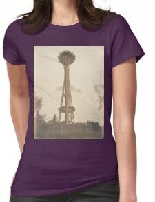 Seattle tower Womens Fitted T-Shirt