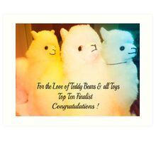 *New Banner - For the Love of Teddy Bears & all Toys* Art Print