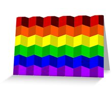 Rainbow Blocks Greeting Card