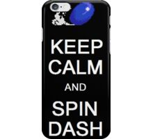 Keep calm and spin dash iPhone Case/Skin