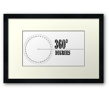 360° (Degrees Line) Clothing and Accesories Framed Print