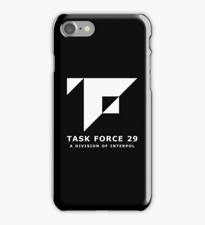 Mankind Divided - Task Force 29 (Simple White Logo) iPhone Case/Skin