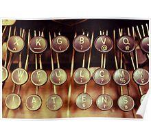 Vintage Keys Poster
