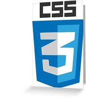 CSS3 logo Greeting Card
