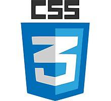 CSS3 logo Photographic Print