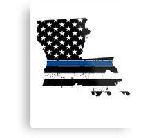 Pray For Baton Rouge Louisiana Blue Line Metal Print