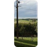 Green landscape with fence iPhone Case/Skin
