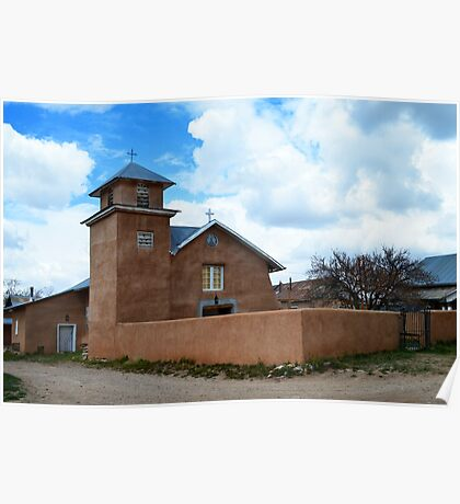 Holy Rosary Church in Truchas, New Mexico Poster