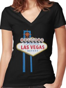 Welcome to Fabulous Las Vegas Women's Fitted V-Neck T-Shirt