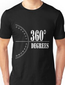 360° (Degrees Line) Clothing and Accesories [Black] Unisex T-Shirt