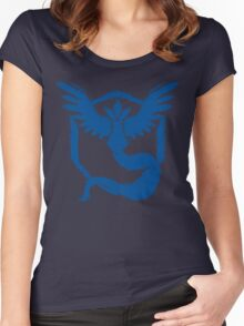 Team Mystic - Grunge Blue Women's Fitted Scoop T-Shirt