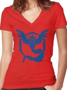 Team Mystic - Grunge Blue Women's Fitted V-Neck T-Shirt