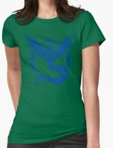 Team Mystic - Grunge Blue Womens Fitted T-Shirt