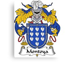 Montoya Coat of Arms/Family Crest Canvas Print